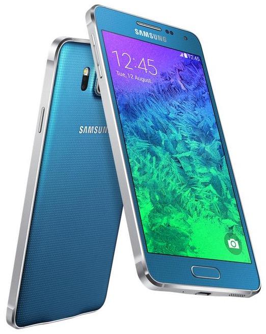 Samsung Galaxy Alpha blau