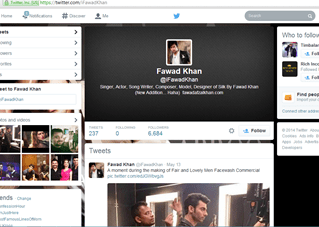 Fawad Khan famous Pakistani social media icon