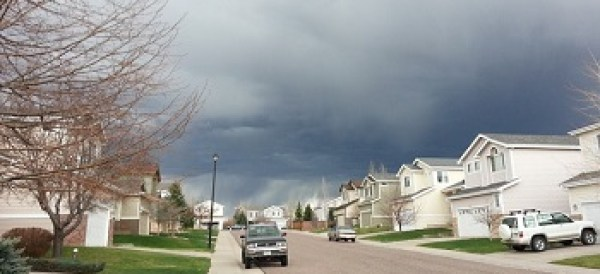 Storm Clouds Over The Neighborhood