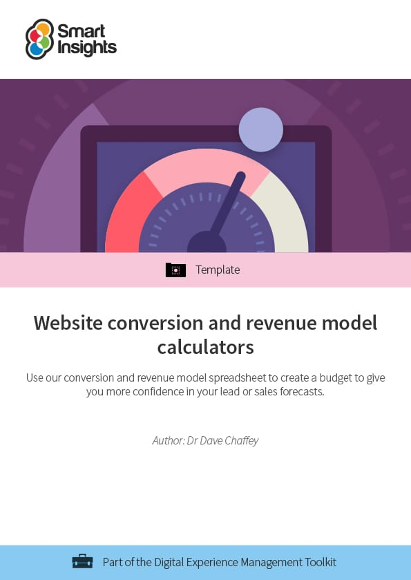Website conversion and revenue model calculators Smart Insights