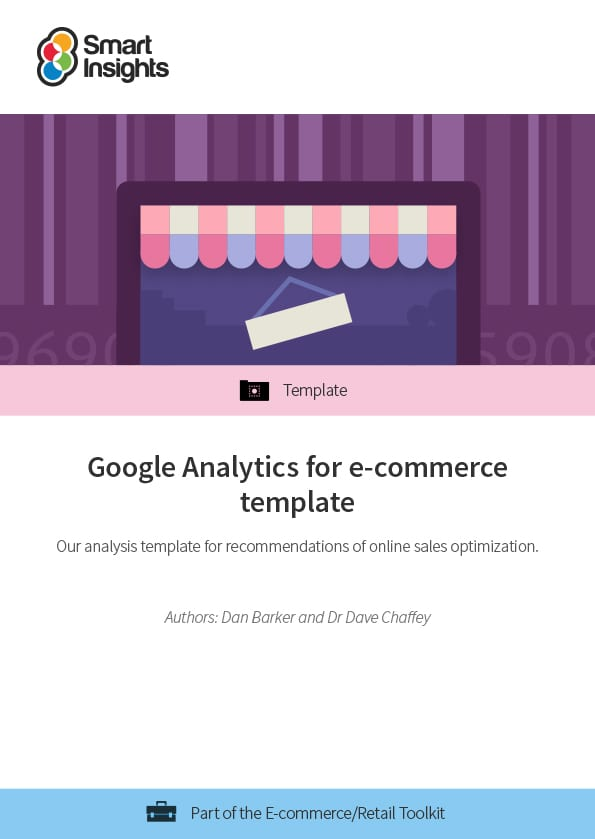 Google Analytics for e-commerce template Smart Insights