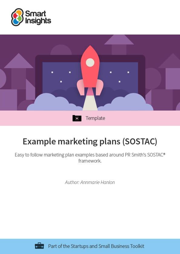 Example marketing plans (SOSTAC®) Smart Insights