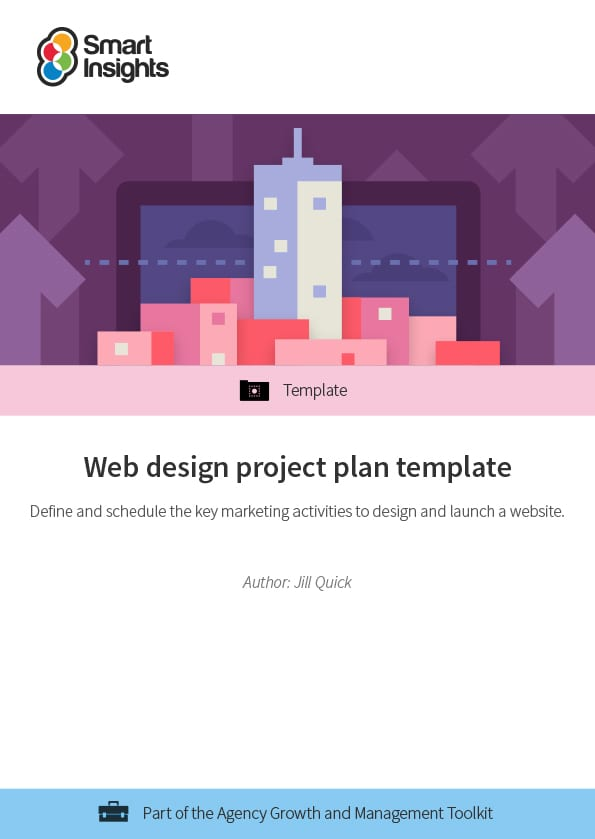 Web design project plan template Smart Insights