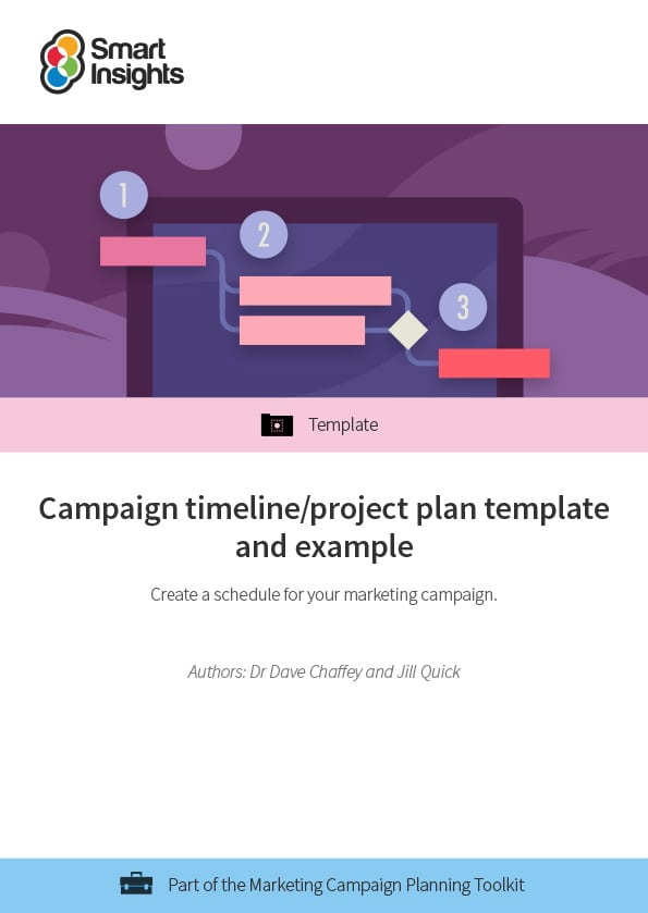 Campaign timeline/project plan template and example Smart Insights