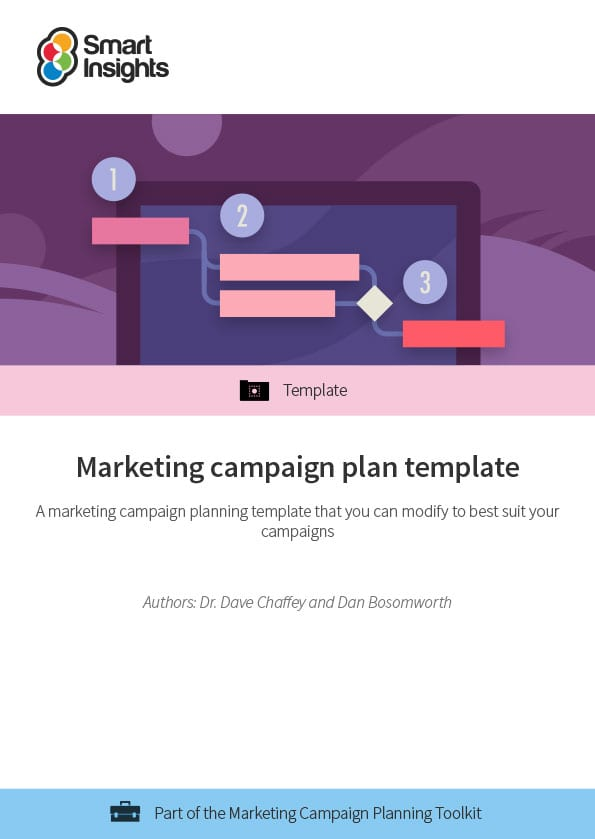 Marketing campaign plan template Smart Insights