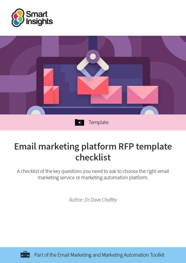 Email marketing platform RFP template checklist Smart Insights