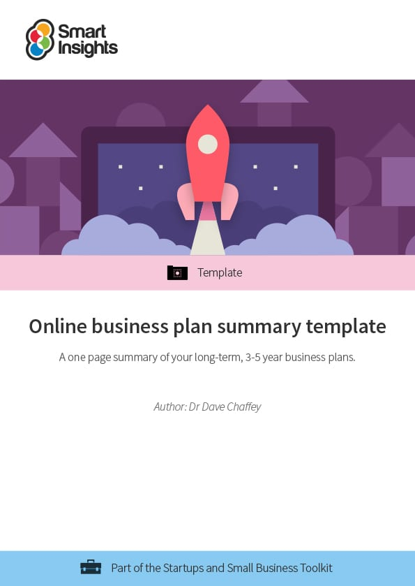 Online business plan summary template Smart Insights