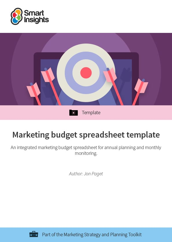 Marketing budget spreadsheet template Smart Insights