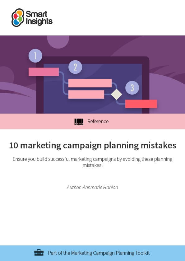 10 marketing campaign planning mistakes Smart Insights