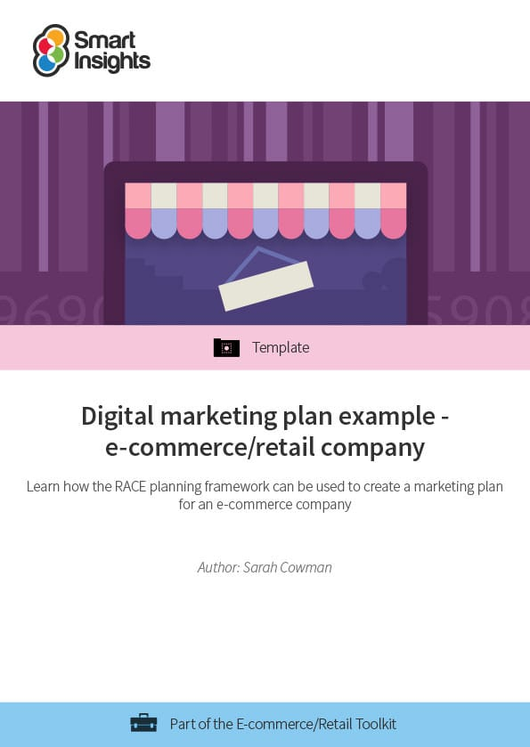 Digital marketing plan example for an e-commerce/retail company