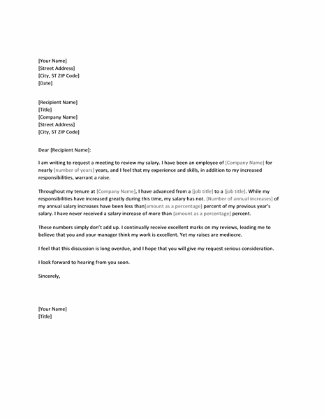 raise request letter template