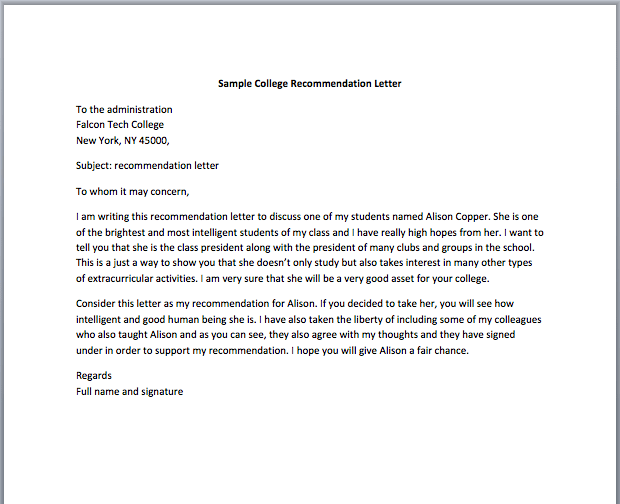recommendation letter for job from a friend