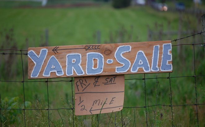 selling on online yard sale sites