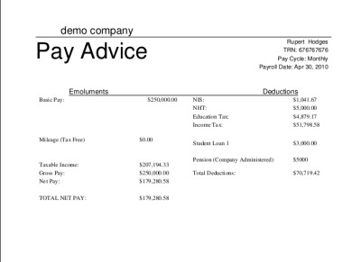 Basic Payslip Template Excel Download – Free Payslip Download