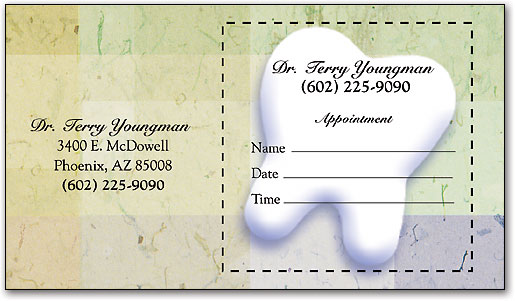 Dental Appointment Cards Keep Your Chairs Full SmartPractice Dental - sample appointment card template
