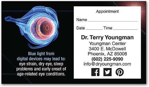 Eye Care Appointment Cards SmartPractice Eye Care