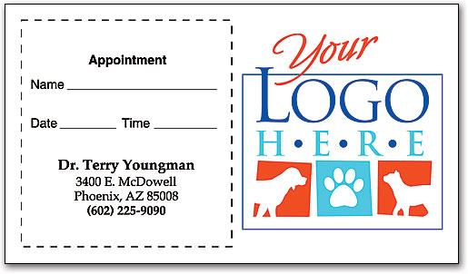 Design Your Own Full Color Sticker Appointment Cards SmartPractice