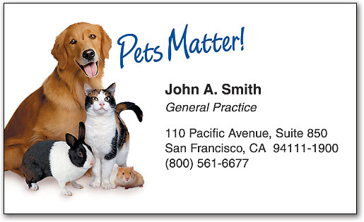 Veterinary Business Cards SmartPractice Veterinary