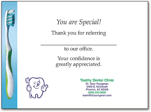Dental Thank You Folding Cards are the Elegant Choice - Thank You Letter To Doctor