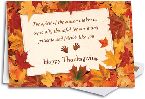 Thanksgiving and Fall-themed Folding Cards SmartPractice Chiropractic