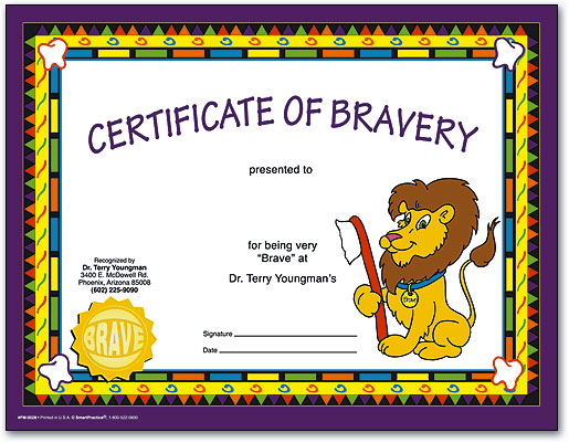 Certificates Make Kids Feel Like Superstar Patients SmartPractice