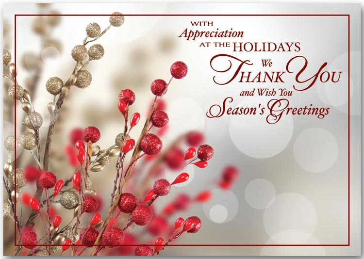 Thank You For Your Business Holiday Cards Greeting Cards