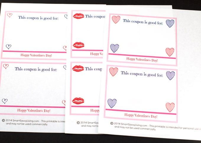 Free Printable Valentine\u0027s Day Coupon Book