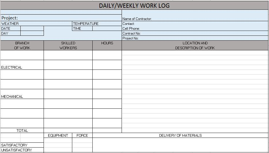 Work Progress Report Template Xls | Newsletter Template Excel