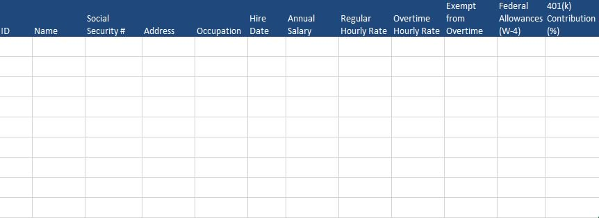 Free Human Resources Templates in Excel - employee list template