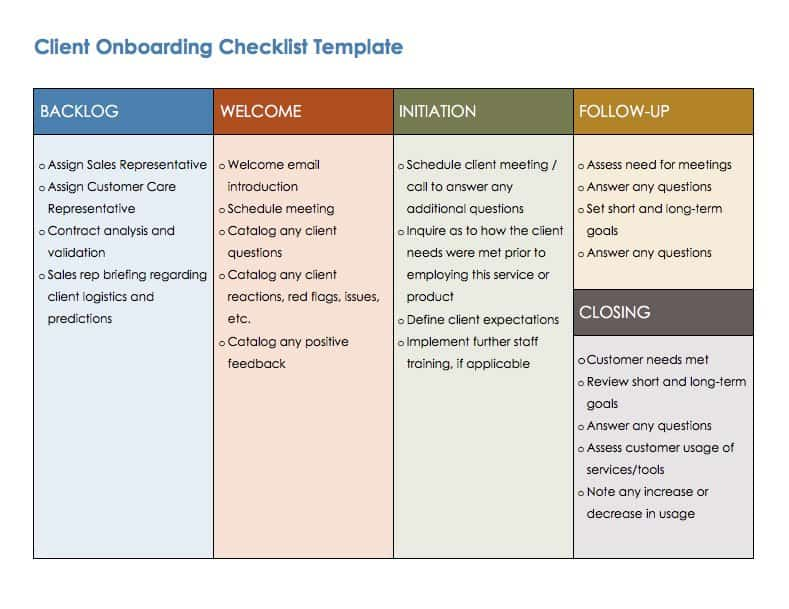 Free Onboarding Checklists and Templates Smartsheet - sample new hire checklist template