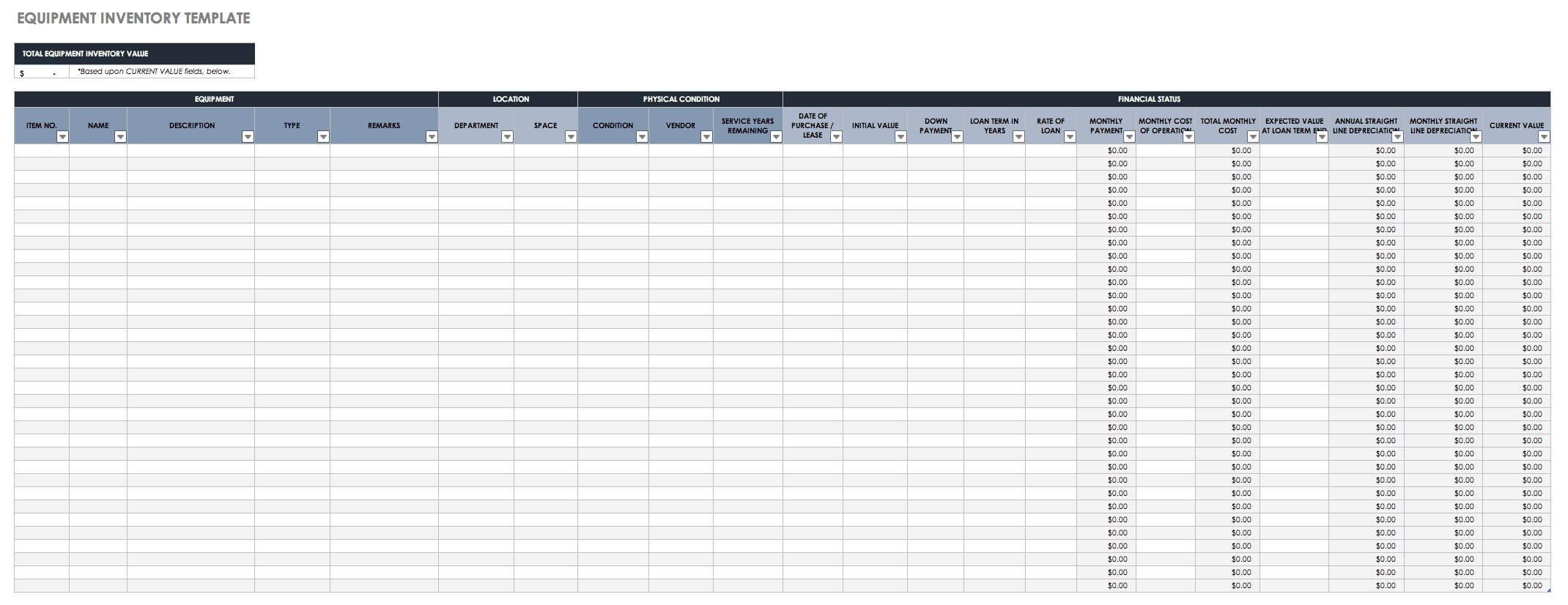 toner inventory template