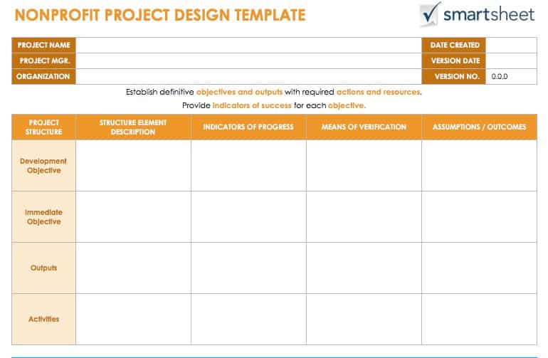 Guide for Creating a Project Design Smartsheet - Project Design Template
