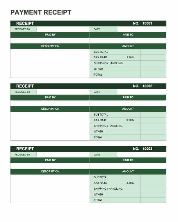 13 Free Business Receipt Templates Smartsheet - payment receipt templates