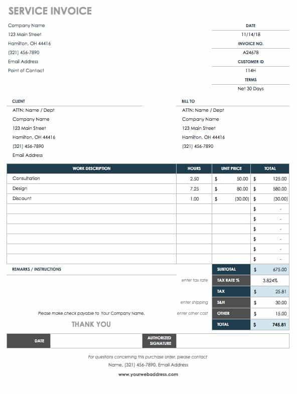 15 Free Work Order Templates Smartsheet