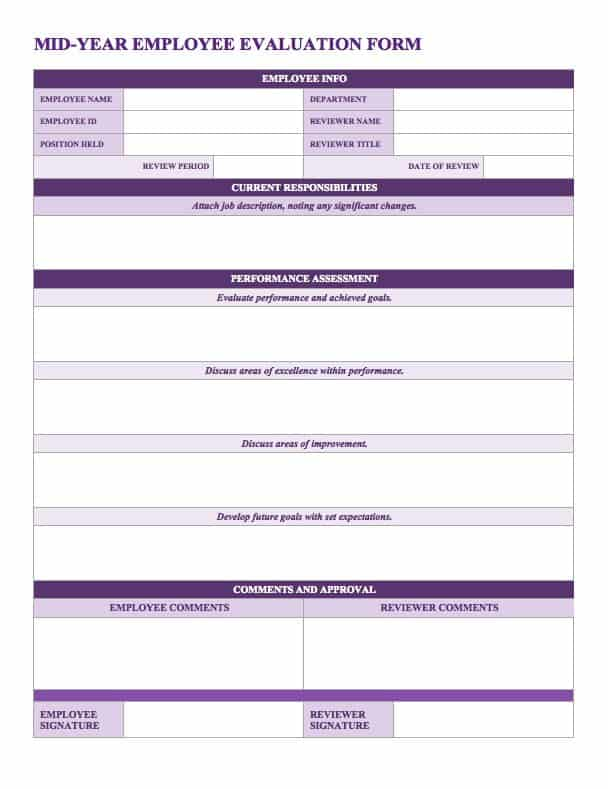 employee yearly review form