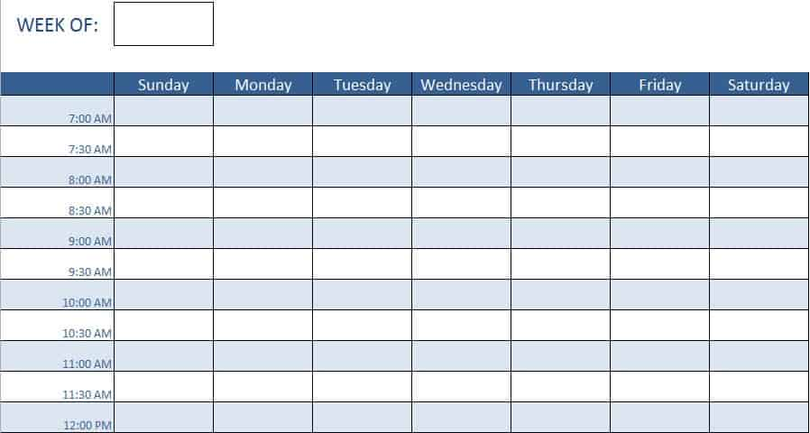 Free Human Resources Templates in Excel - employee monthly schedule template