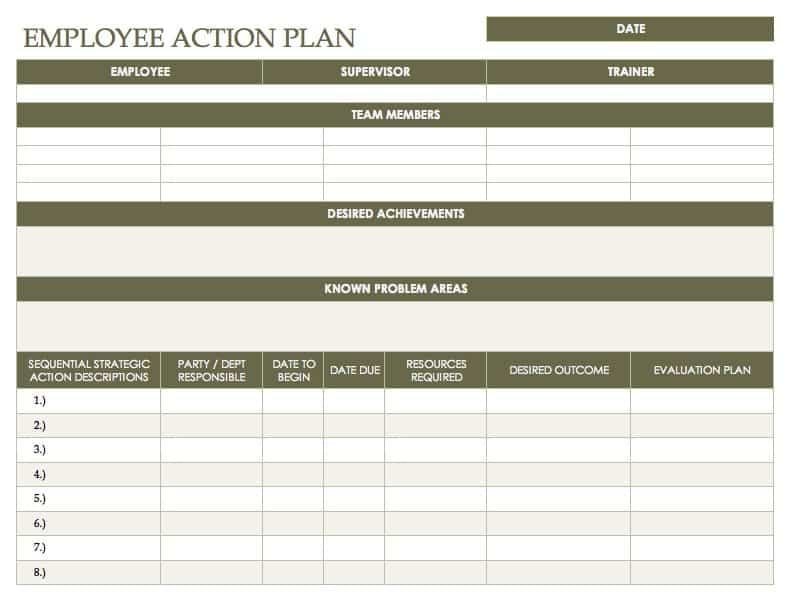 Free Action Plan Templates - Smartsheet - development plan template for employees