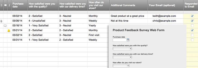 Product Feedback Survey Web Form Smartsheet