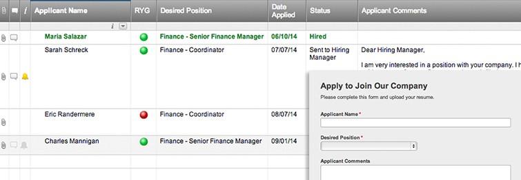 Resume Upload Web Form and Applicant Tracker Smartsheet