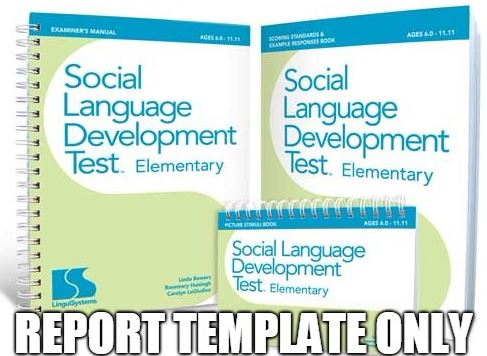 Editable Report Template for the Social Language Development Test - test report template