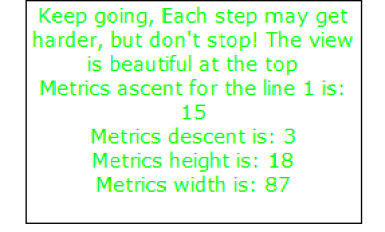 how to find width,height, ascent and descent of text in the textField using getLineMetrics in action script 3 flash