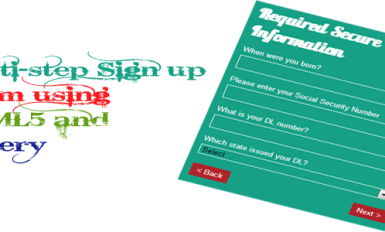 Multi Step Signup Form using jQuery Ajax PHP HTML5 and css3