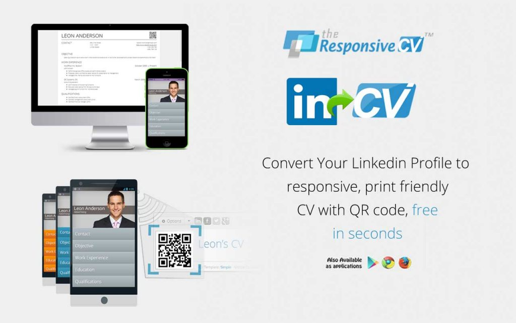 convert linkedin to cv