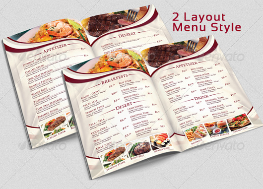 Restaurant Menu Templates  Graphic Designs