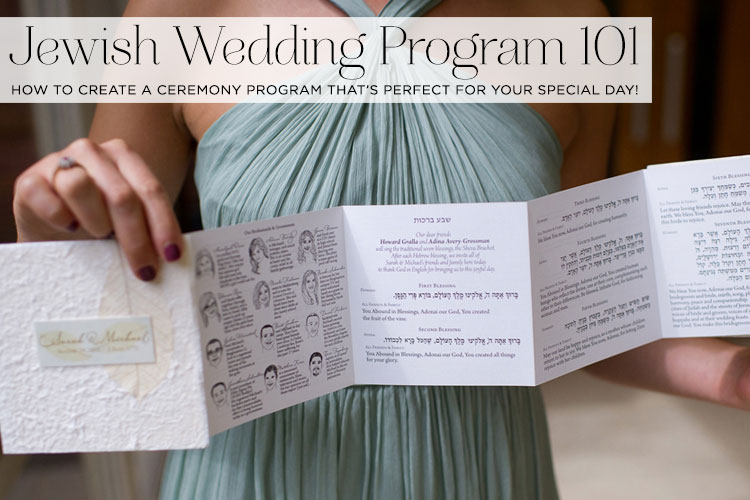 Jewish wedding program 101 How to create a ceremony program that\u0027s