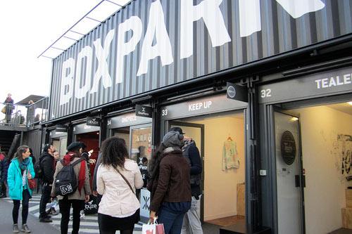 BoxPark pop-up shops