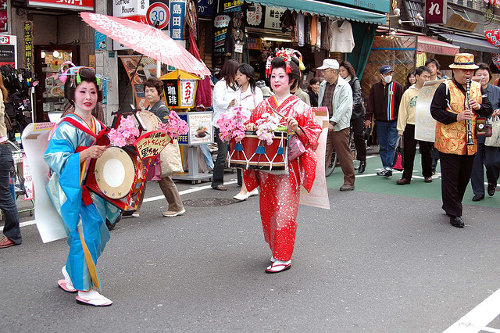 Sales promotion band in Japan