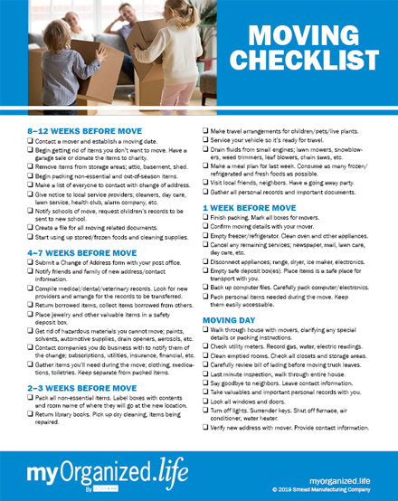 Checklist Planning Your Move