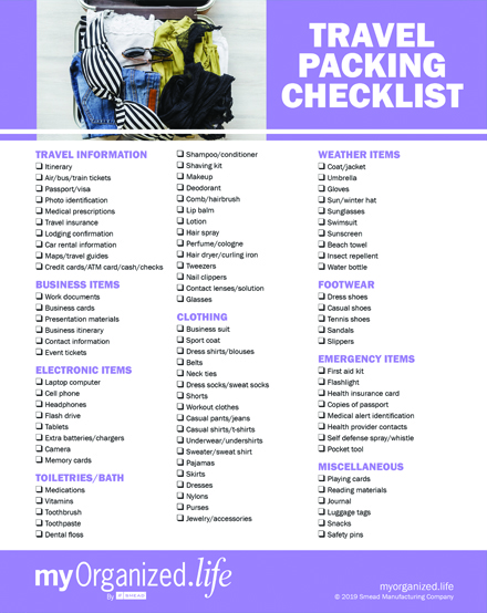 Checklist Travel Packing - Travel Checklist