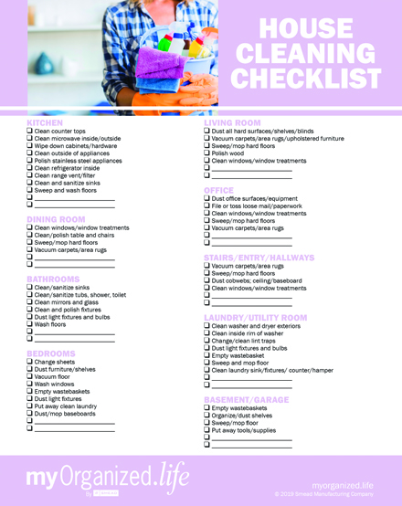 Checklist House Cleaning